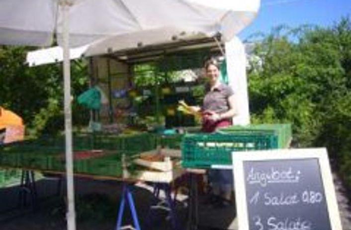 Marktstand in Spardorf