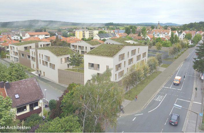 Neuer Vollsortiment-Supermarkt in der Mitte Uttenreuths – überbaut mit Wohnungen und Gewerbeflächen